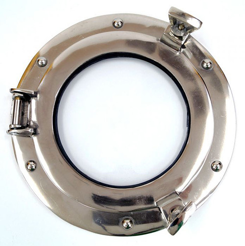 Ships Porthole Glass Window Aluminum Chrome Finish