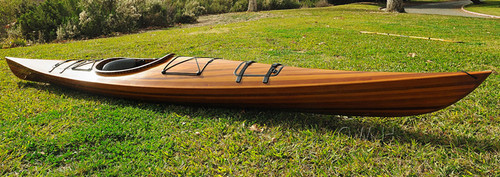 Cedar Wood Strip Built Kayak Woodenboat USA