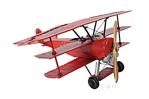 Fokker Dr.1 Triplane Metal Model Red Baron