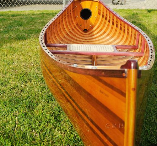 Display Cedar Strip Built Canoe Wooden Boat