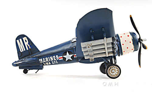 F4U Corsair Metal Desk Model WWII Airplane Decor
