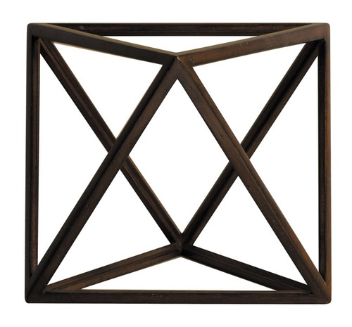 Octahedron 3D Geometric Air Wooden Model Polyhedron