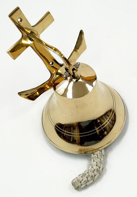 Solid Cast Brass Ships Bell Anchor Bracket
