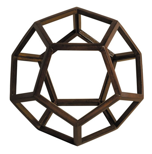 Dodecahedron 3D Geometric Ether Wooden Model Polyhedron