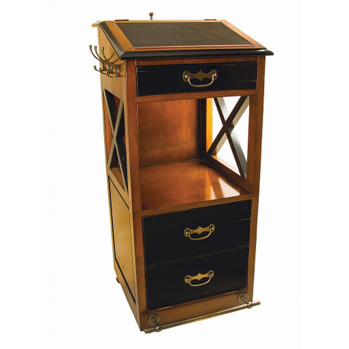 Valet de Chambre Rolling Cabinet Desk Nautical Furniture