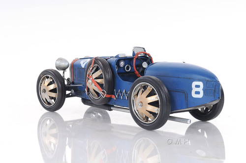 1920s Bugatti Type 35 Metal Racing Car Model