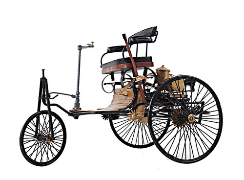 1886 Mercedes Benz Patent Motorwagen Metal Model