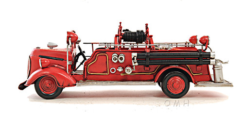 1938 Ford Fire Engine Truck Metal Desk Car Model