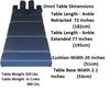 Omni Table Deninsions