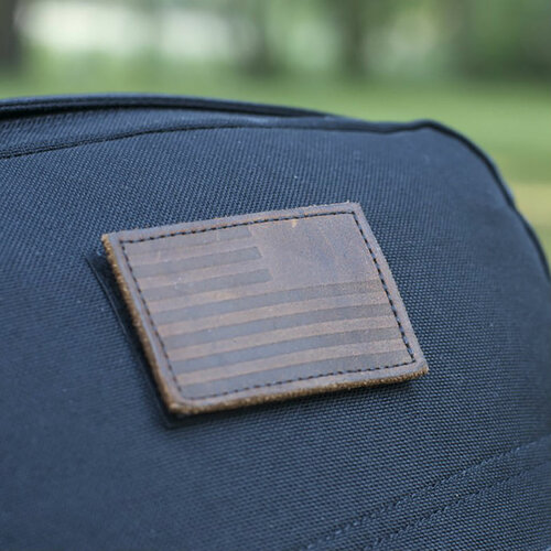 Patch - Leather Reverse Flag