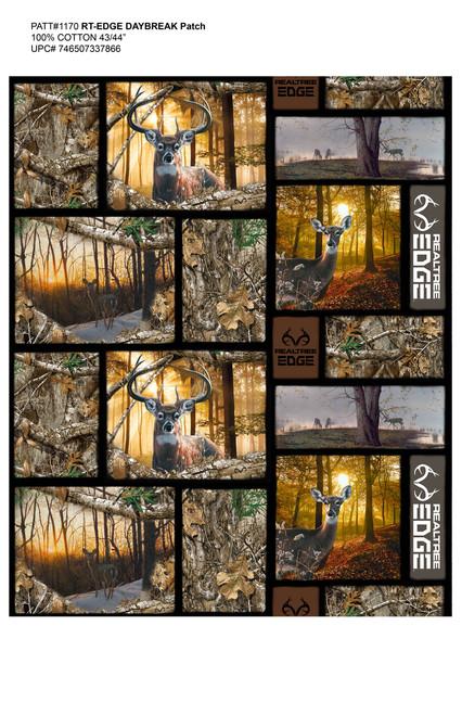 Real Tree Daybreak Edge Animals Cotton Fabric 1168