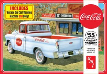 AMT 1094 1:25 1955 Chevy Cameo Pickup (Coca-Cola) Model Kit