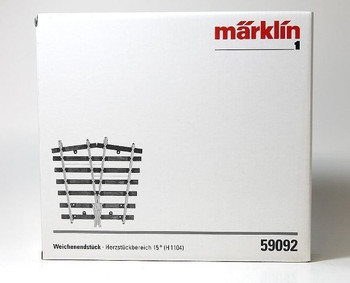 Marklin 59092 G1 Turnout end w. frog ankle 15 Degree(H1104)