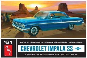 AMT 1013 1961 1:25 Chevy Impala SS Model Kit