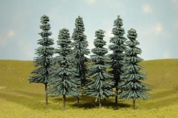 "Bachmann 32012 HO Scale Scene Scapes Trees 5""- 6"" Blue Spruce Trees Train 6 per box"