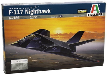 Italeri 1:72 Aircraft No 189 F-117a Nighthawk Model Kit