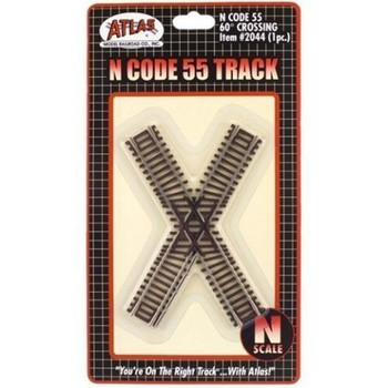 Atlas N Scale Code 55 60 Degree Crossing