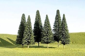 "Bachmann 32101 N Scale 3""- 4"" Pine Trees - 9 Per Box"