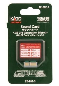 Kato 222023 GE 3rd Generation Diesel Sound Card for Soundbox by Kato