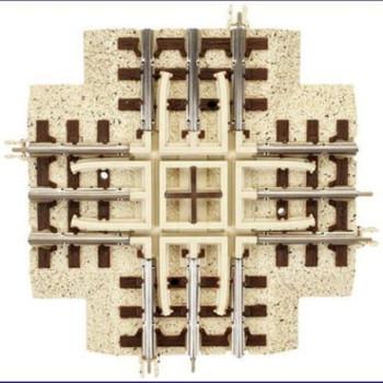 Atlas 1001080 O Industrial Rail 90-Degree Crossing
