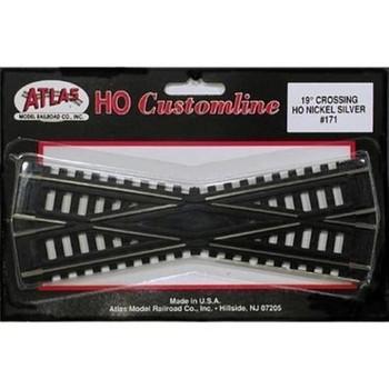 Atlas HO Scale Code 100 Custom-Line 19 Degree Crossing