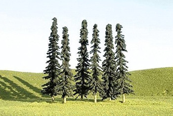 Bachmann 32103 N Scale 3 inches 4 inches Conifer Trees 9 Per Box