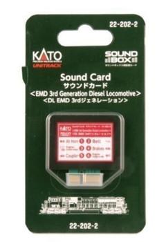 Kato 222022 EMD 3rd Generation Diesel Sound Card for Soundbox by Kato