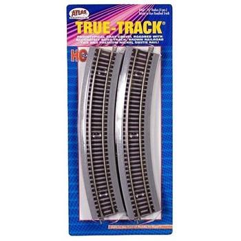 "Atlas HO Scale True-Track w/ Roadbed 18"" Radius Curve 4-Pack Model Train Track"