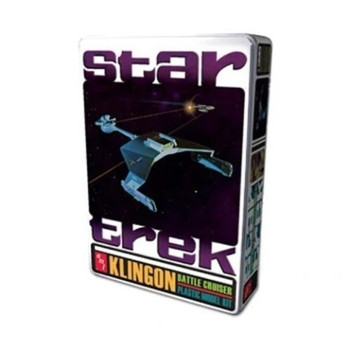 AMT 699 1:650 Star Trek Klingon Battle Cruiser Tin, Special Edition