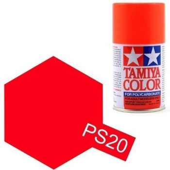 Polycarbonate PS-20 Fluorescent Red, Spray 100 ml