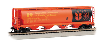Bachmann 19134 HO Scale 4 Bay Cylindrical Grain Red Hopper Government of Canada