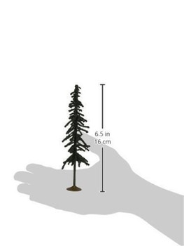 Bachmann 32003 HO Scale inches 6 inches Conifer Trees 6 Per Box