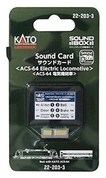 Kato 222033 ACS-64 ELE LOCO Sound Card