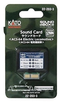 Kato 222033 ACS-64 ELE LOCO Sound Card