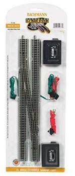 Bachmann 44875 N Scale E-Z Track #6 Single Crossover Turnout - Left