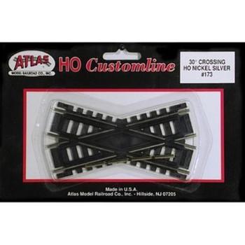 Atlas 173 HO Code 100 30 Degree Custom Crossing
