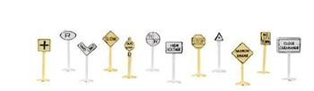 Bachmann 42513 N Scale Railroad And Street Signs (24 Pieces)