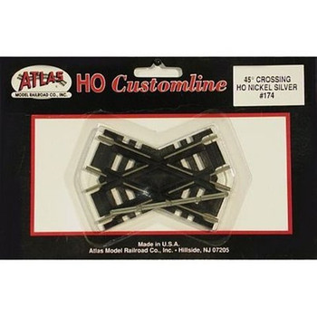 Atlas HO Scale Code 100 Custom-Line 45 Degree Crossing