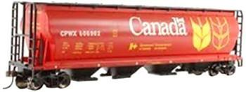 Bachmann 19131 HO Scale Canadian Grain 4 Bay Cylindrical Grain Hopper