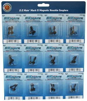 Bachmann Trains E - Z Mate Mark II Magnetic Knuckle Couplers with Metal Coil Spring - Under Shank - Long (12 Coupler