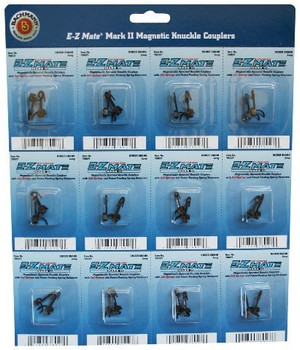 Bachmann Trains E - Z Mate Mark II Magnetic Knuckle Couplers with Metal Coil Spring - Center Shank - Short - HO Scale -
