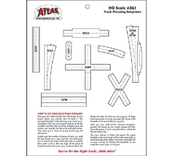 Track Planning Template HO Scale Atlas Trains