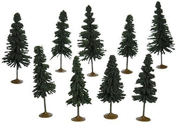 Bachmann 32104 N Scale 3 inches 4 inches Spruce Trees 9 Per Box