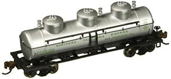 Bachmann 17153 N Scale 3 Dome Tank Northern California Wineries Car
