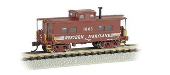 Bachmann 16859 N Scale #1863 Northeast Steel Caboose Western Maryland (Speed Lettering)