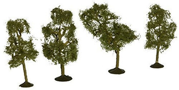 Bachmann 32109 N Scale 2.5 inches 2.75 inches Sycamore Trees 4 Per Box