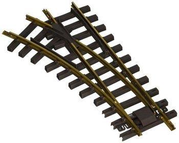 Bachmann 94659 G Scale Universal Brass Track with 30 Degree 4' Diameter Turnout, Left