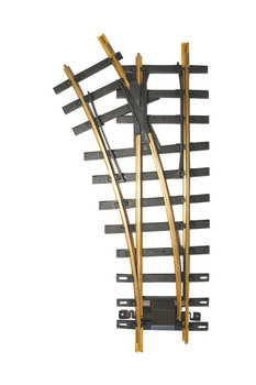 Bachmann 94659 Large Scale 30 Degree 4' Diameter Turnout, Left Brass Track