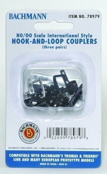 Bachmann 78979 Thomas And Friends - Hook And Loop Couplers 3 Pack