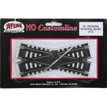 Atlas HO Scale Code 100 Custom-Line 25 Degree Crossing